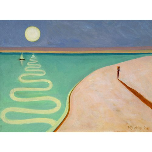 Cuadro - Serpentine Sunset, 2004 (oil on canvas) -