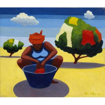 - Cuadro - A Drying Day, 2007 (oil on canvas) - - Willis, Tilly