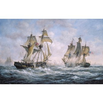 cuadros de marinas - Cuadro - Action Between U.S. Sloop-of-War Wasp and H.M. Brig-of-War Frolic, 1812 - - Willis, RIchard