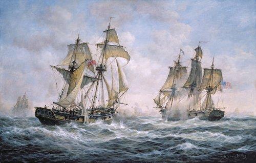 cuadros-de-marinas - Cuadro - Action Between U.S. Sloop-of-War Wasp and H.M. Brig-of-War Frolic, 1812 - - Willis, RIchard