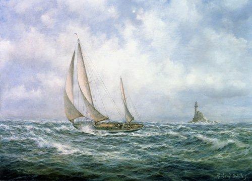 cuadros-de-marinas - Cuadro - Fastnet Abeam - - Willis, RIchard