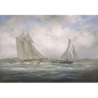 cuadros de marinas - Cuadro - Two Classics. 'Aello Beta' and 'Marigold' off the Isle of Wight, 2005 - - Willis, RIchard