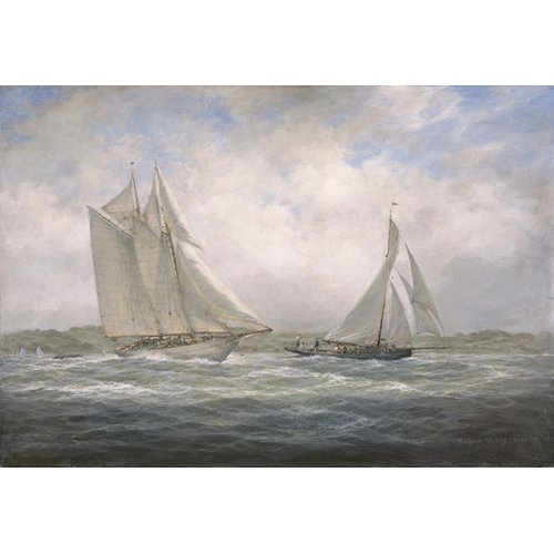 Cuadro - Two Classics. 'Aello Beta' and 'Marigold' off the Isle of Wight, 2005 -