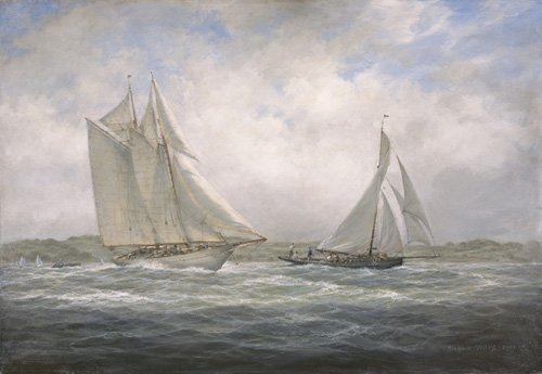 cuadros-de-marinas - Cuadro - Two Classics. 'Aello Beta' and 'Marigold' off the Isle of Wight, 2005 - - Willis, RIchard