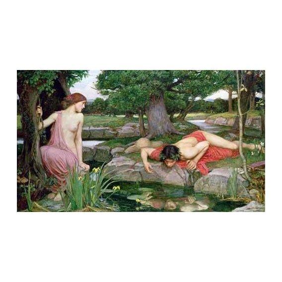 cuadros de retrato - Cuadro -Eco y Narciso-