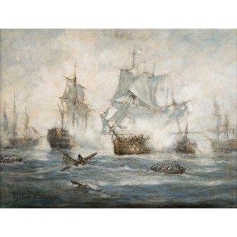 cuadros de marinas - Cuadro - Trafalgar - End Game - - Willis, RIchard