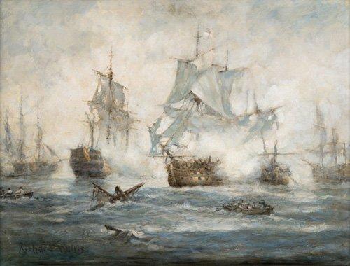 cuadros-de-marinas - Cuadro - Trafalgar - End Game - - Willis, RIchard