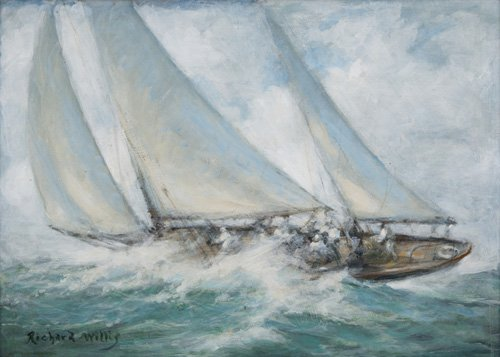 cuadros-de-marinas - Cuadro - Classic Yacht - Twixt Wind and Water - - Willis, RIchard