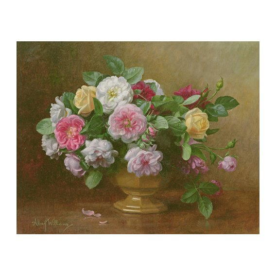Cuadro - AB.119.2 A bowl of roses -
