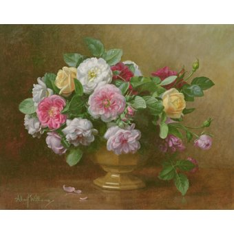 cuadros de flores - Cuadro - AB.119.2 A bowl of roses - - Williams, Albert