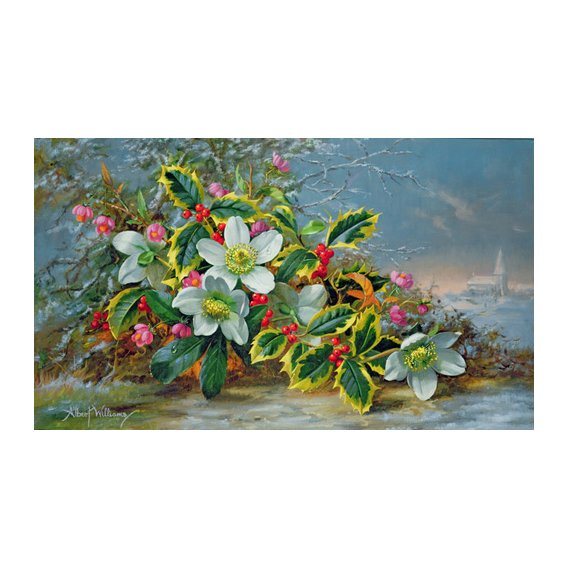 Cuadro - Winter roses in a landscape -