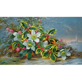 Hall - Cuadro - Winter roses in a landscape - - Williams, Albert