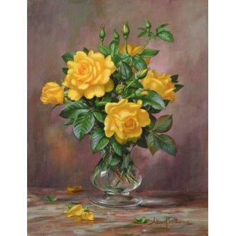 cuadros de flores - Cuadro - AB.303 Radiant Yellow Roses - - Williams, Albert