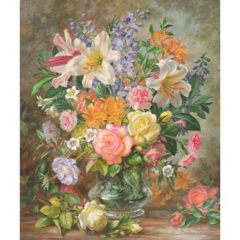 cuadros de flores - Cuadro - The Glory of Summertime (oil on canvas) - - Williams, Albert