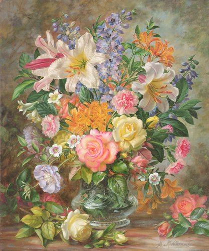 cuadros-de-flores - Cuadro - The Glory of Summertime (oil on canvas) - - Williams, Albert