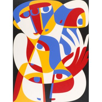 cuadros abstractos - Cuadro -Act of Toleration, 1989 (acrylic on board) - - Waddams, Ron