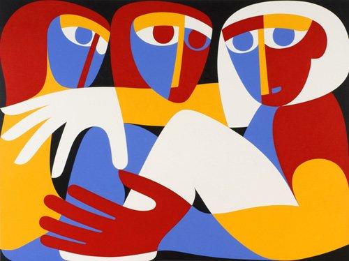 cuadros-abstractos - Cuadro - Till Light Arise, 1988 (acrylic on board)  - - Waddams, Ron