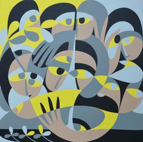cuadros-abstractos - Cuadro - Presence III, 1987 (acrylic on board) - - Waddams, Ron