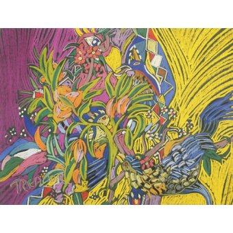 - Cuadro - Birds of Paradise (pastel on paper) - - Treanor, Frances