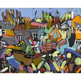 - Cuadro - Judy au Jardin, 2010 (acrylic on canvas) - - Treanor, Frances