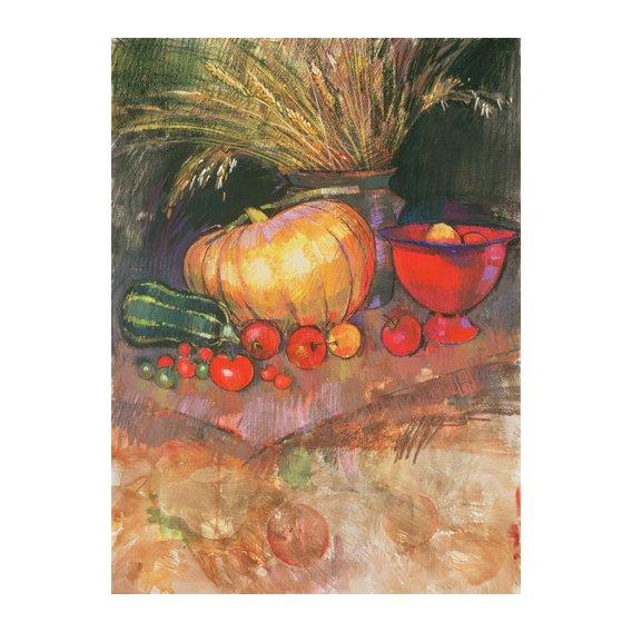 Cuadro - Harvest (pastel on paper) -