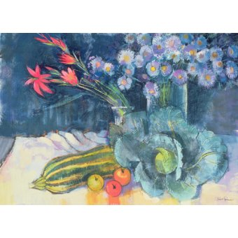 cuadros de bodegones - Cuadro - Still Life with Fruit and Flowers (mixed media) - - Spencer, Claire