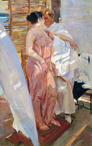 cuadros-de-retrato - Cuadro -Despues del baño, 1916 - - Sorolla, Joaquin