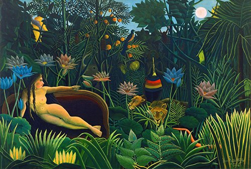 cuadros-de-paisajes - Cuadro -El sueño- - Rousseau, Henri