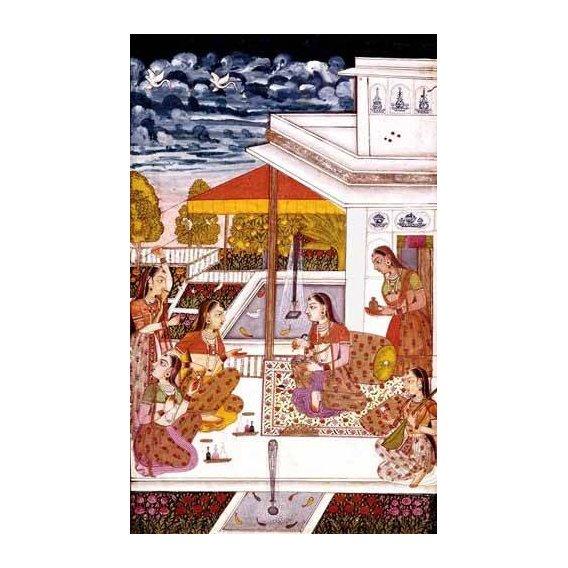 cuadros etnicos y oriente - Cuadro -Mujeres charlando en la terraza-