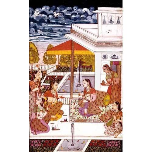 Cuadro -Mujeres charlando en la terraza-