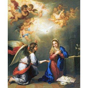 - Cuadro -Anunciación- - Murillo, Bartolome Esteban