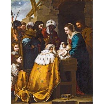 - Cuadro -Adoracion de los Reyes Magos- - Murillo, Bartolome Esteban