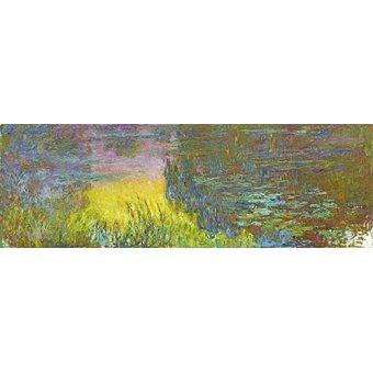 Cuadro -Les nénuphars - soleil couchant- - Monet, Claude