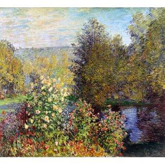 Cuadro -Un coin de jardin à Montgeron- - Monet, Claude