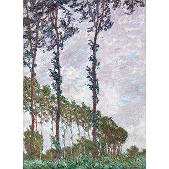 - Cuadro -Effet du vent, série des peupliers- - Monet, Claude