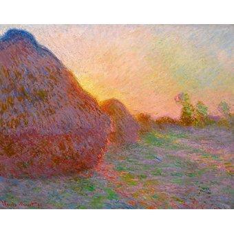 - Cuadro -Meules- - Monet, Claude