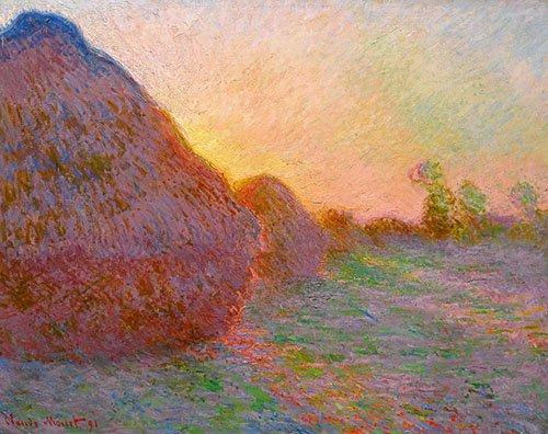 cuadros-para-comedor - Cuadro -Meules- - Monet, Claude