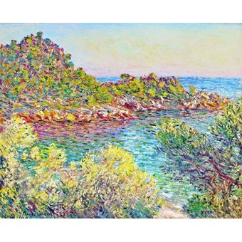 cuadros de flores - Cuadro -Paysage près de Montecarlo- - Monet, Claude