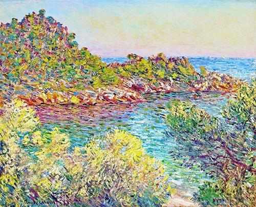cuadros-de-flores - Cuadro -Paysage près de Montecarlo- - Monet, Claude