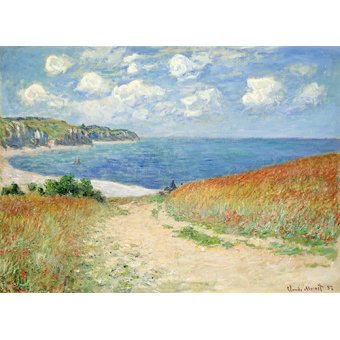 cuadros de flores - Cuadro -Chemin Dans Les Bles a Pourville, 1882- - Monet, Claude