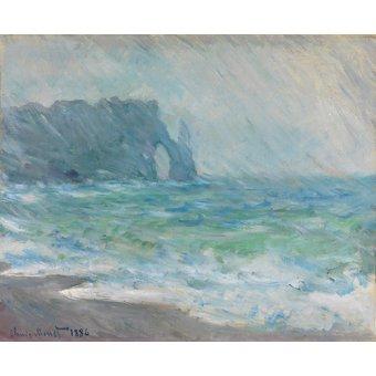 cuadros de flores - Cuadro -Regnvær, Etretat- - Monet, Claude