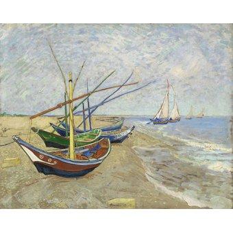 cuadros de paisajes - Cuadro -Bateaux de pêche- - Van Gogh, Vincent