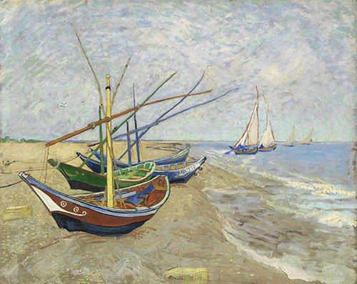 cuadros-de-paisajes - Cuadro -Bateaux de pêche- - Van Gogh, Vincent
