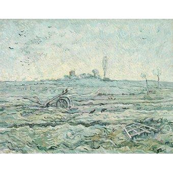 - Cuadro -Champ enneigé avec une herse- - Van Gogh, Vincent