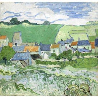 - Cuadro -Maisons à Auvers- - Van Gogh, Vincent