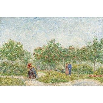 - Cuadro -Jardin avec courtiser Couples, Place Saint Pierre, 1887- - Van Gogh, Vincent