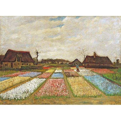 Cuadro -Parterres de fleurs en Hollande, 1883-