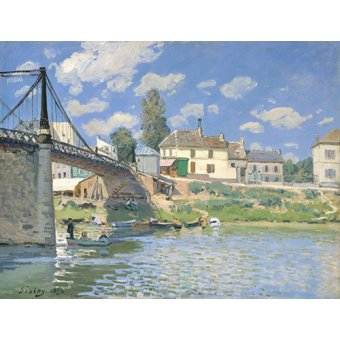 - Cuadro -Pont à Villeneuve-la-Garenne- - Sisley, Alfred