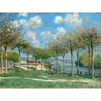- Cuadro -La Seine à Bougival- - Sisley, Alfred
