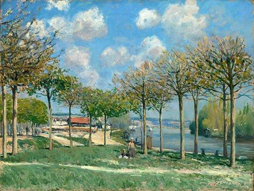 cuadros-de-paisajes - Cuadro -La Seine à Bougival- - Sisley, Alfred